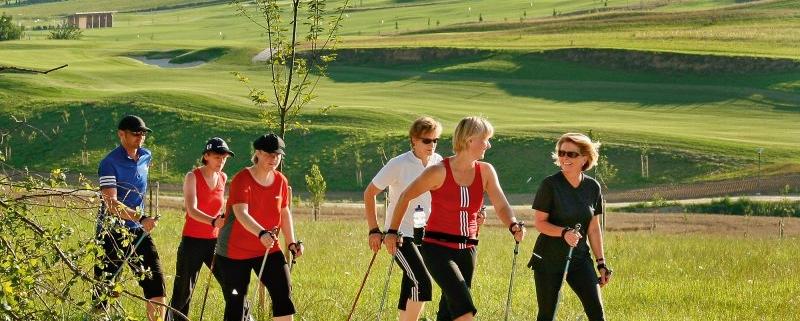 Nordic Walking am Golfpark Bella Vista in Bad Birnbach