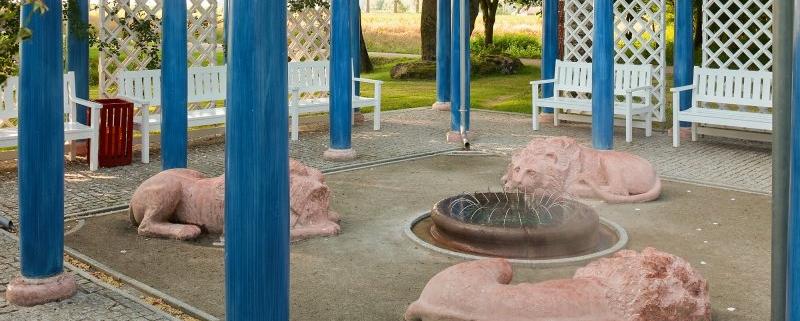 Löwenbrunnen im Kurpark Bad Birnbach