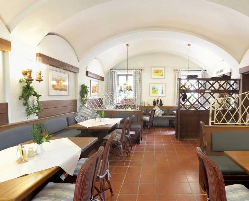 Gewölbe im Gastraum im Gasthof Alter Weißbräu