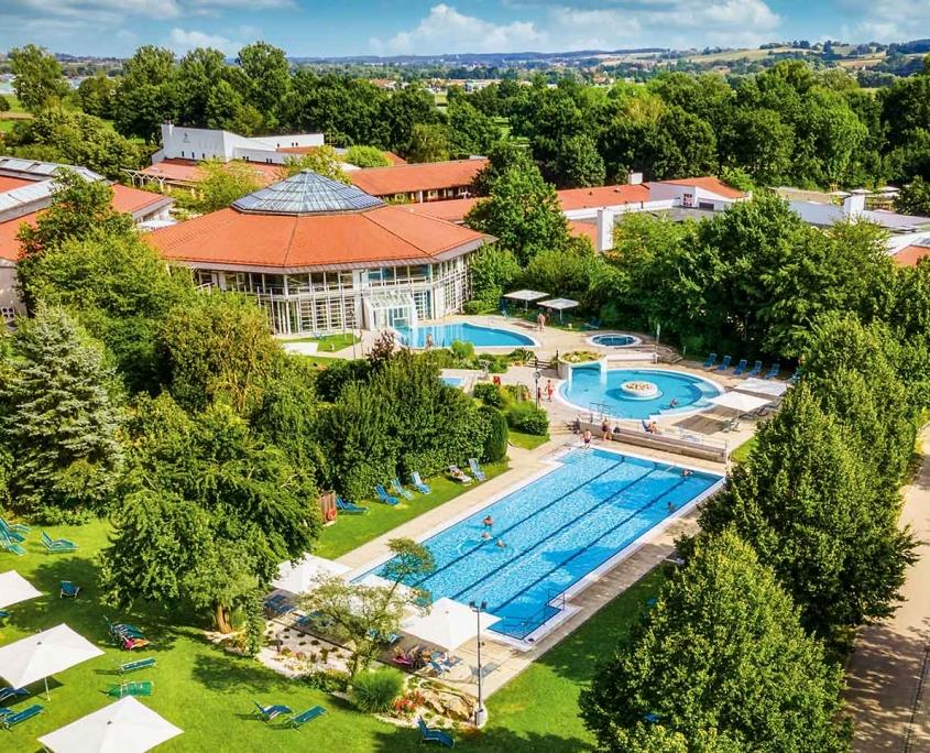 Luftaufnahme des Therapiebades der Rottal Terme in Bad Birnbach