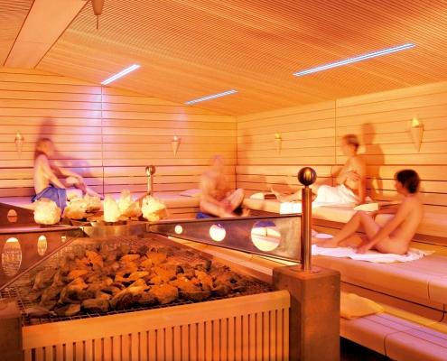 Kristallsauna in der Saunawelt im Vitarium der Rottal Terme