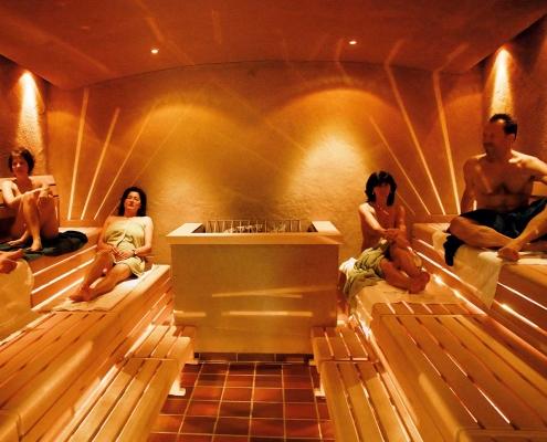 Lehmsauna in der Saunawelt im Vitarium der Rottal Terme
