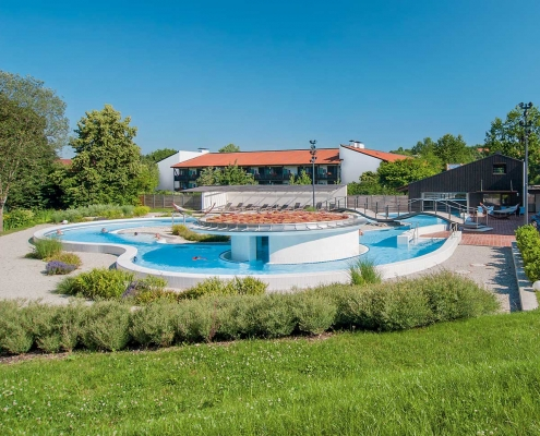 Thermenbach in der Thermenwelt der Rottal Terme