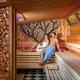 Zirbensauna in der Saunawelt im Vitarium der Rottal Terme