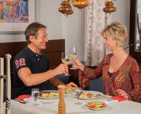 Abendessen im Gasthof Alter Weißbräu in Bad Birnbach