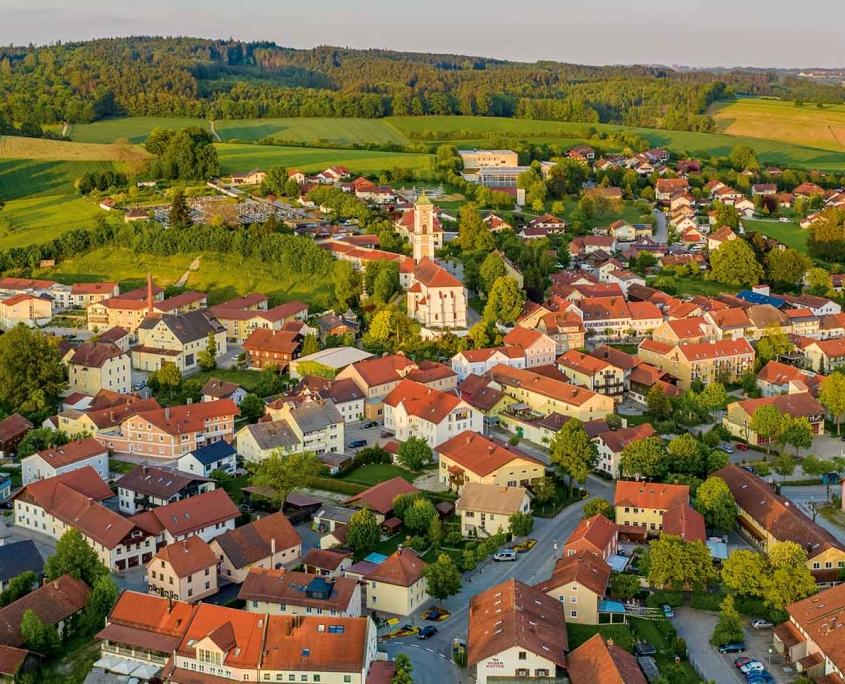 Luftbild von Bad Birnbach