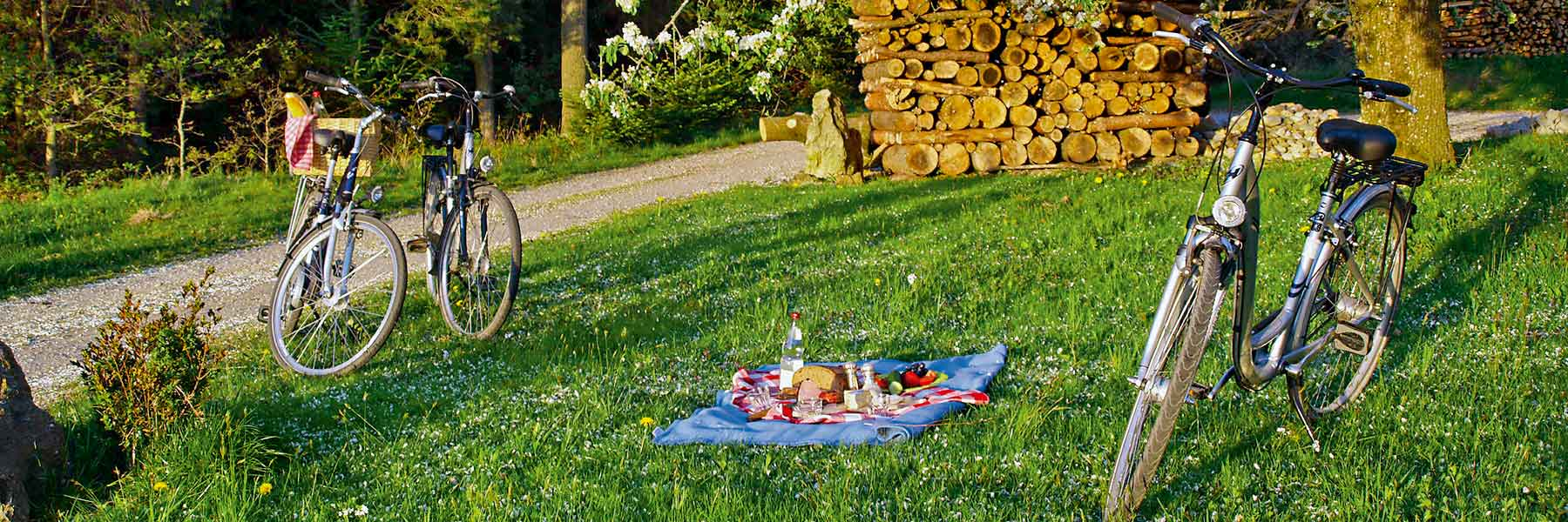 Picknick während einer Fahrradtour in Bad Birnbach