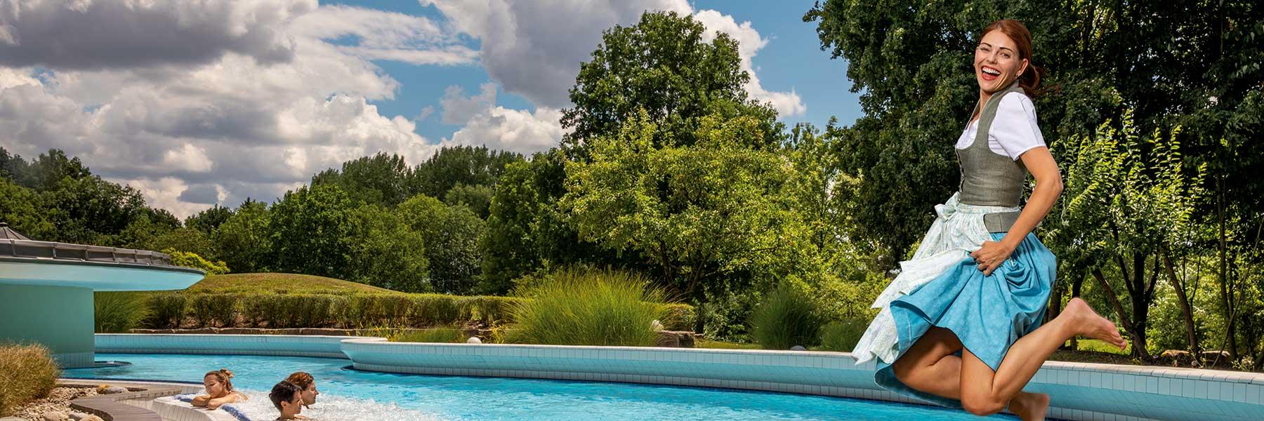 Sommer in der Rottal Terme in Bad Birnbach