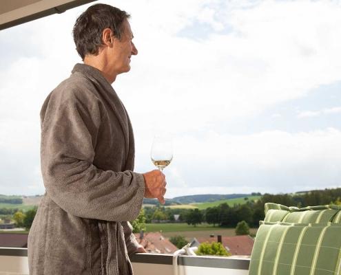 Weitblick vom Balkon des Hotels Alter Weißbräu